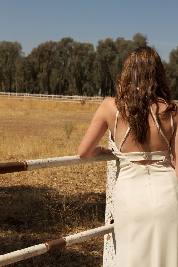 """Backless Vintage Wedding Gown  """"Anna"""", by Daughters Of Simone"""