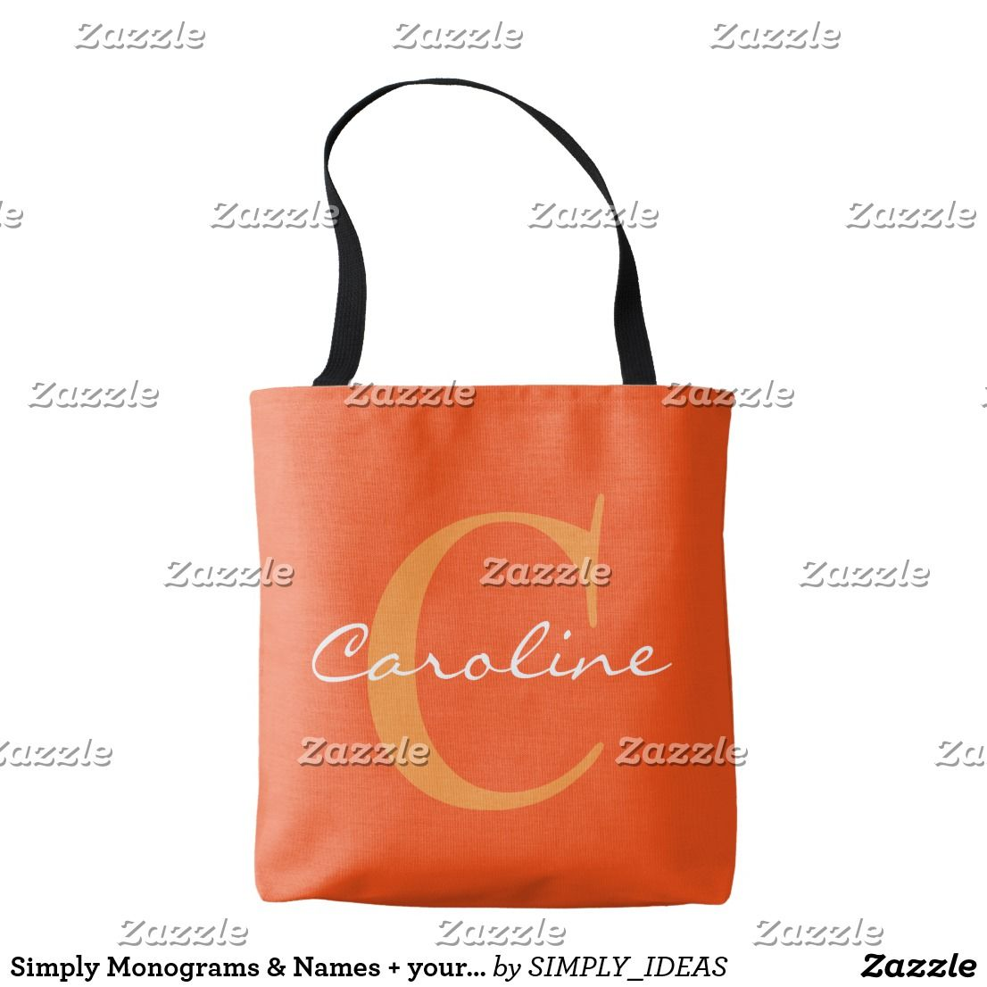 Simply Monograms Names Your Backgr Ideas Tote Bag