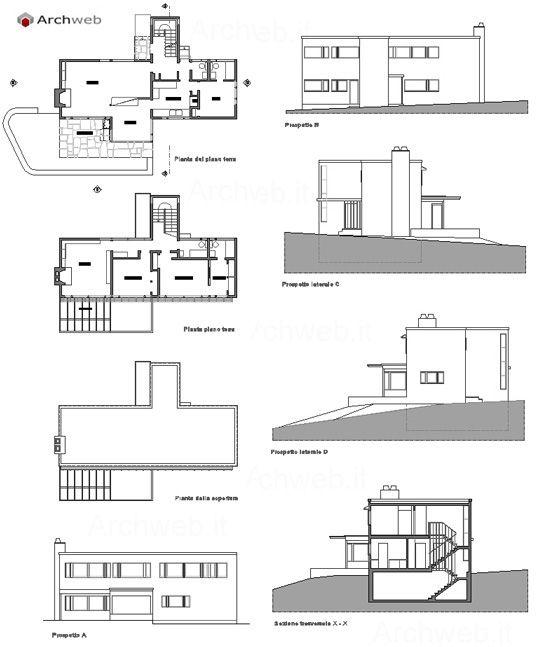 James ford house lincoln ma 1939 marcel breuer for Ranch home progetta planimetrie