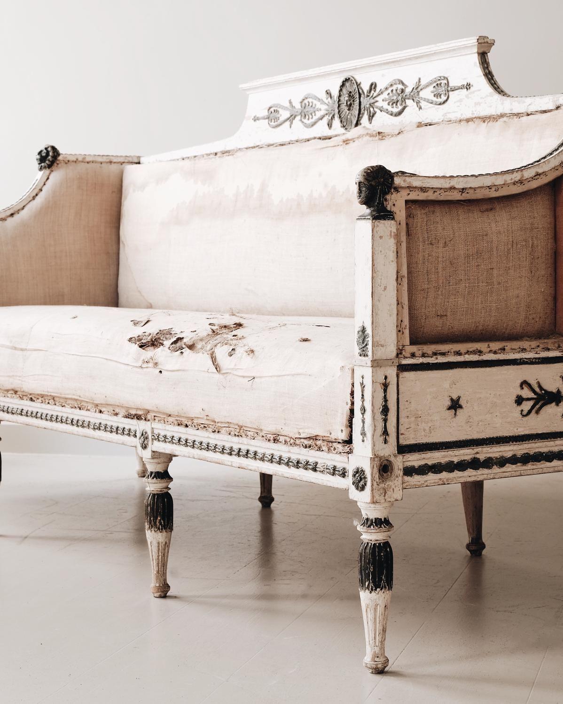 gustavian sofa in swedish gustavian design pinterest
