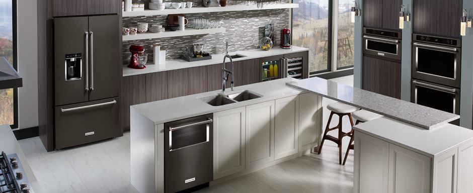 KitchenAid® black stainless steel appliances. | Kitchens | Pinterest
