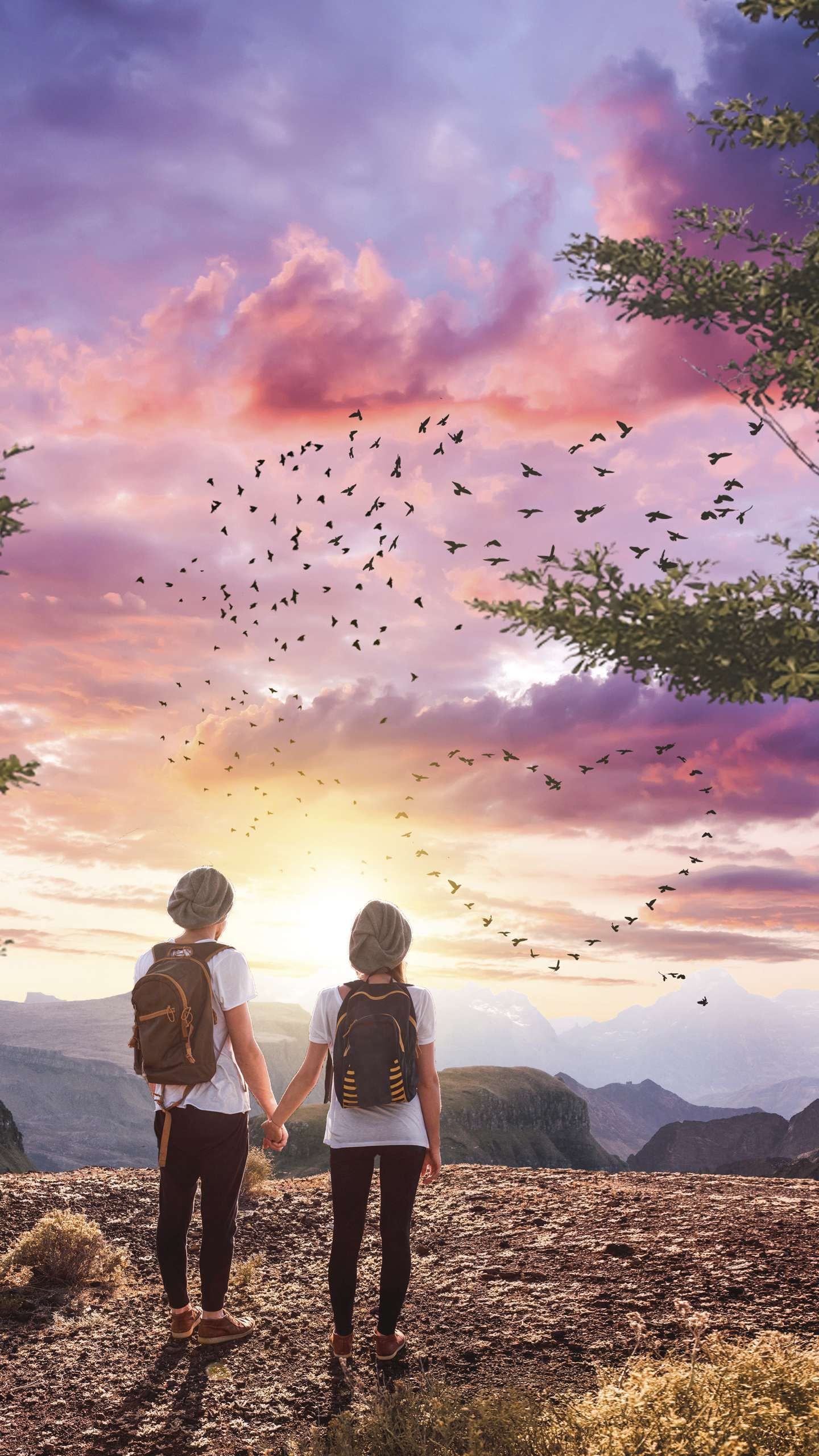 Couple In Paradise Iphone Wallpaper In 2020 Wallpaper Iphone Love Couple Wallpaper Love Wallpapers Romantic