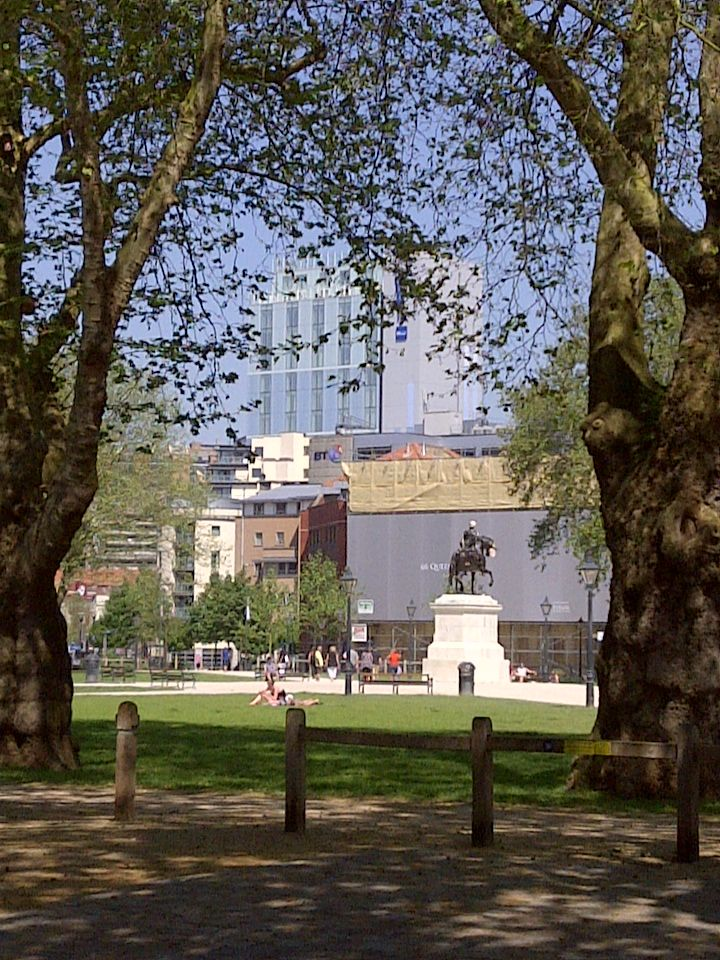 Queens Square and The Radisson.