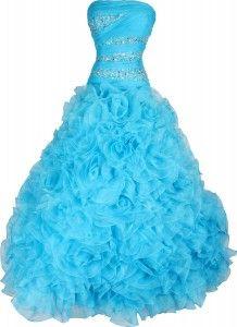 Long Puffy Dresses for Juniors Formal