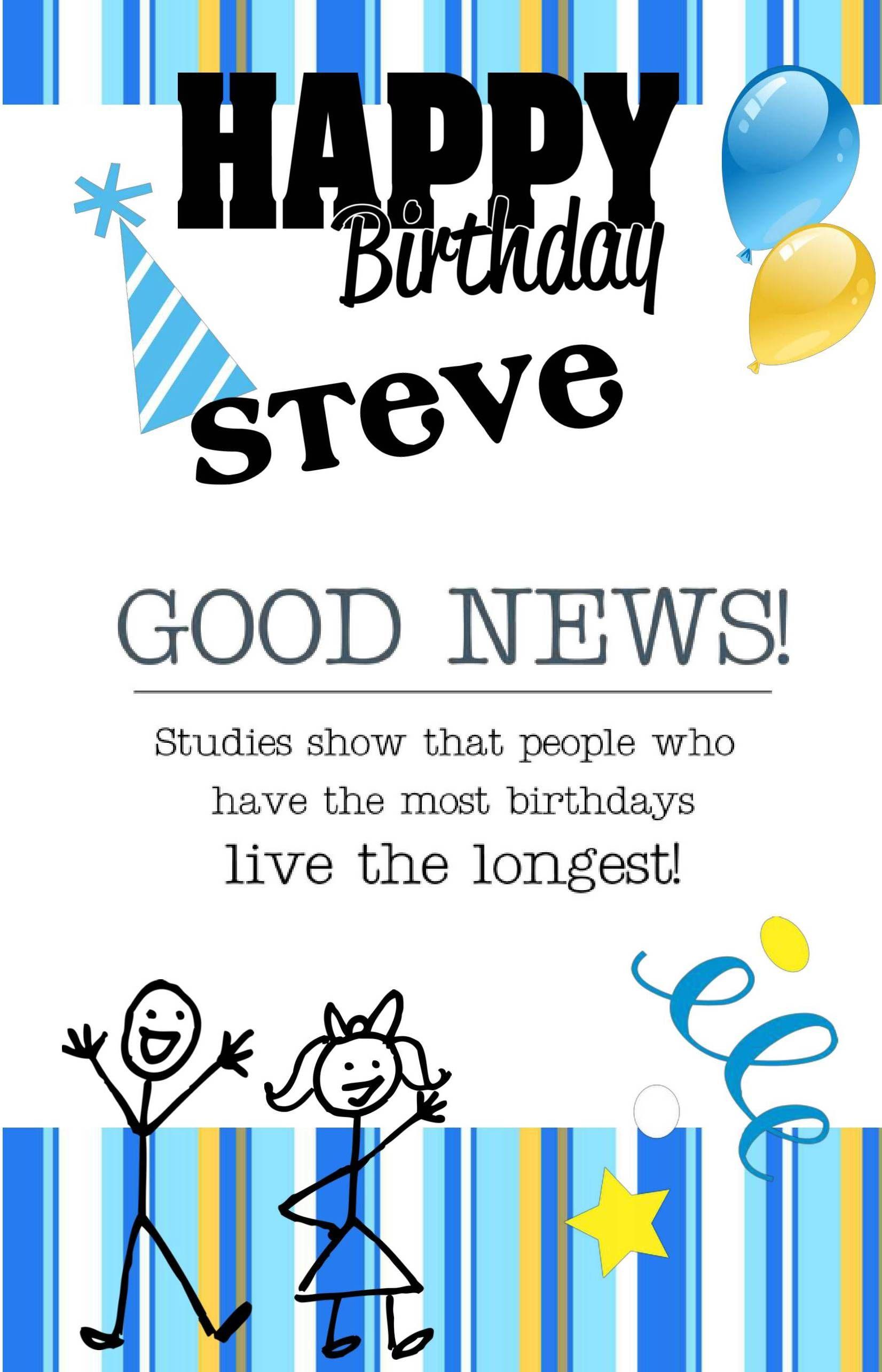 My Pixingo Happy Birthday Steve Birthday Cards Happy