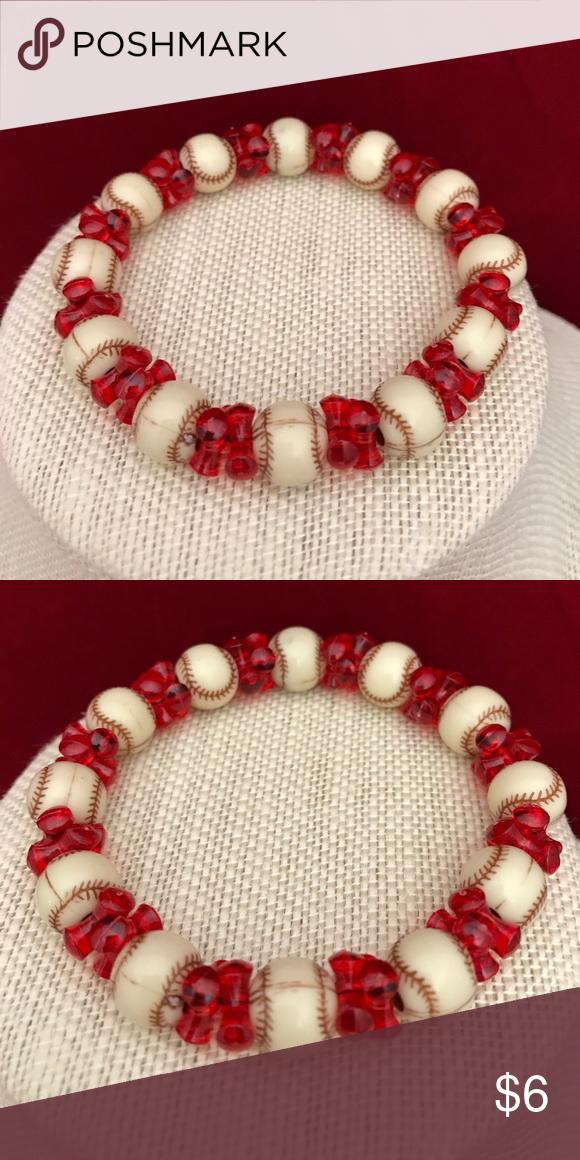 Baseball Bracelet | Baseball bracelet, Plastic beads and Handmade ...