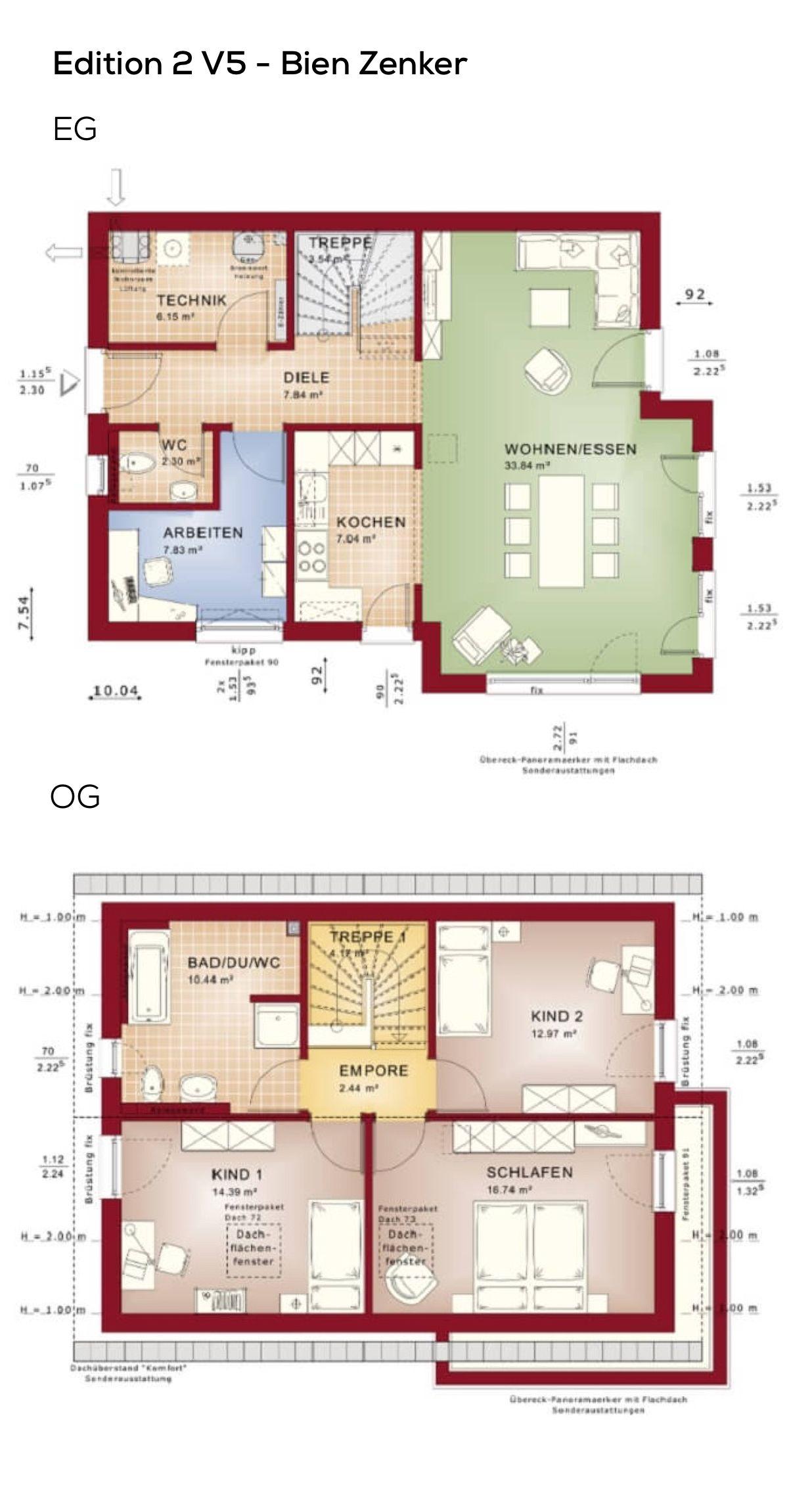 Grundrisse Einfamilienhaus Klassisch Mit Satteldach
