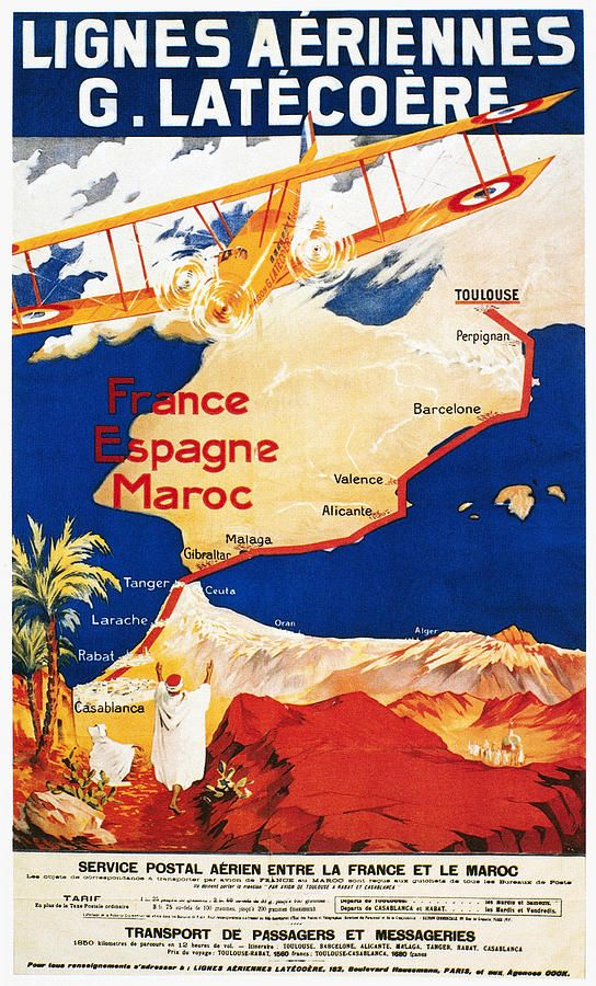Aviation Poster, 1921 Vintage travel posters, Aviation