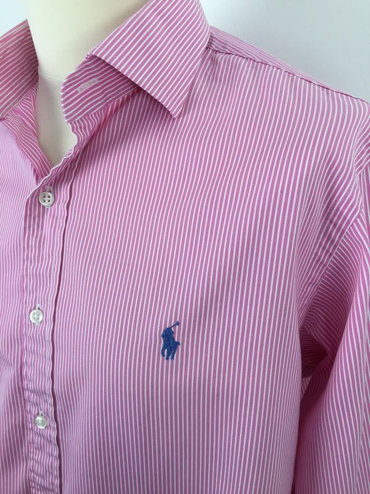 3e50085f8  Polo  RalphLauren  Mens  Regent  Shirt  XL  CustomFit  Pink  White  Bengal   Striped  eBay  Triedandtestedmenswear