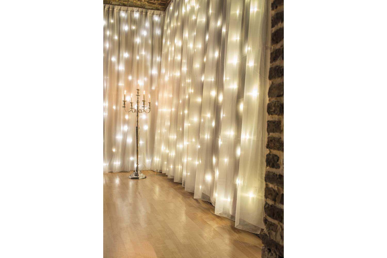 Rideaux lumineux led blanc deco pinterest rideau for Rideau lumineux interieur