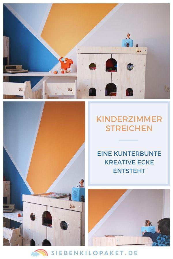 Wandgestaltung Im Kinderzimmer   Eine Kunterbunte, Kreative Ecke Für Den  Großen Jungen (Werbung | Kinderzimmer Streichen, Farbwirkung Und Wandfarbe