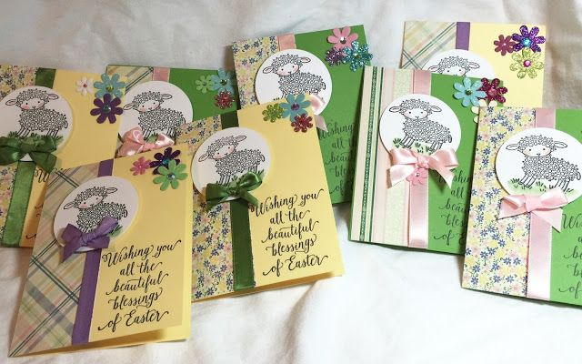 Em's Craft Closet: Lamb Easter Cards