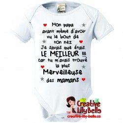 Cache Couche Personnalise Mon Papa Bout Du Nez Bebe Deja Au Monde 3213 Baby Onesies Kids Tee Shirts