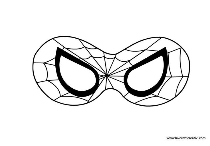 It is a picture of Clean Spiderman Mask Printable