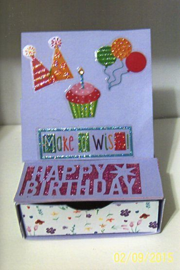 Easel card with drawer