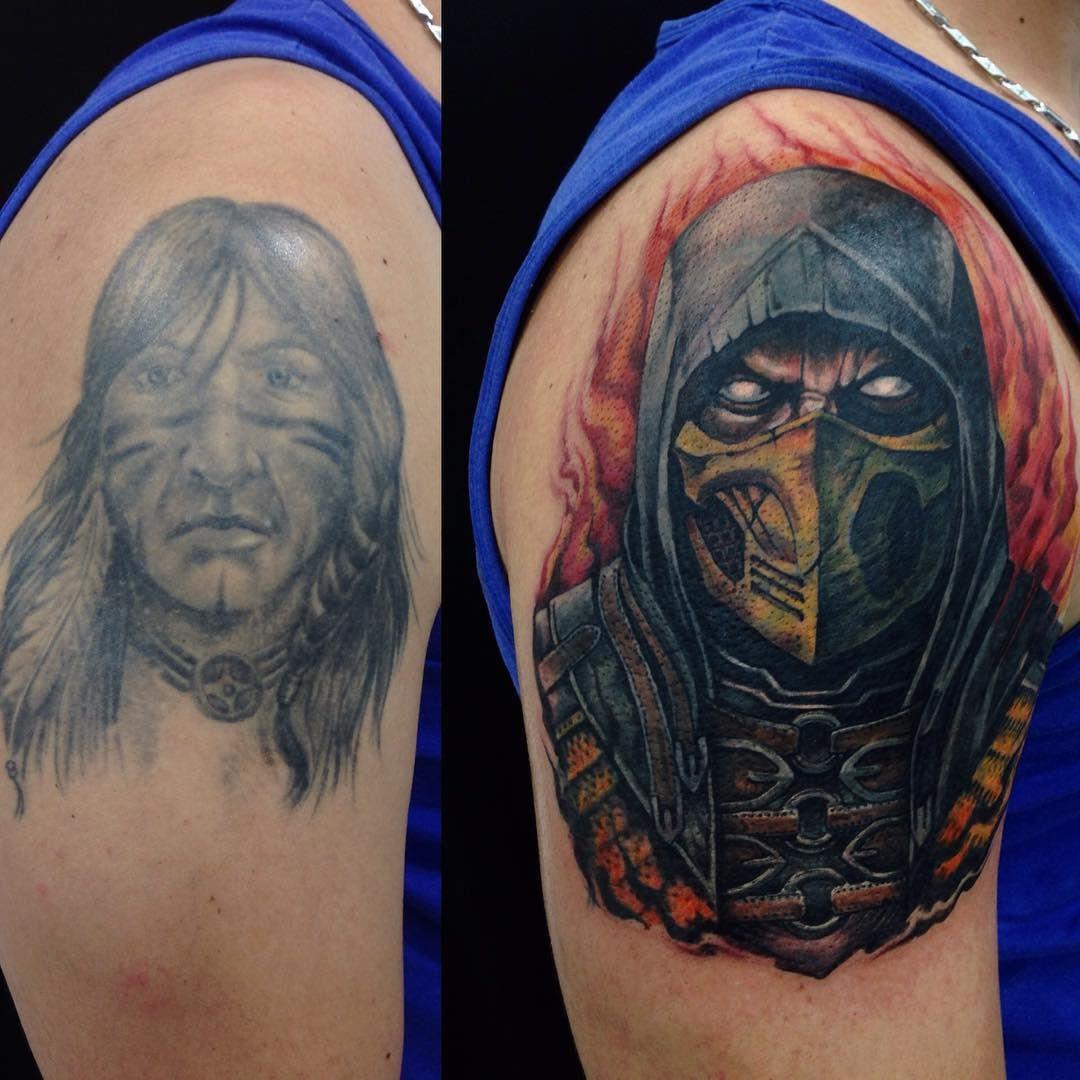 Tattoo Designs Mk: #coverup #cobertura #antesdepois #beforeafter #netherrealm