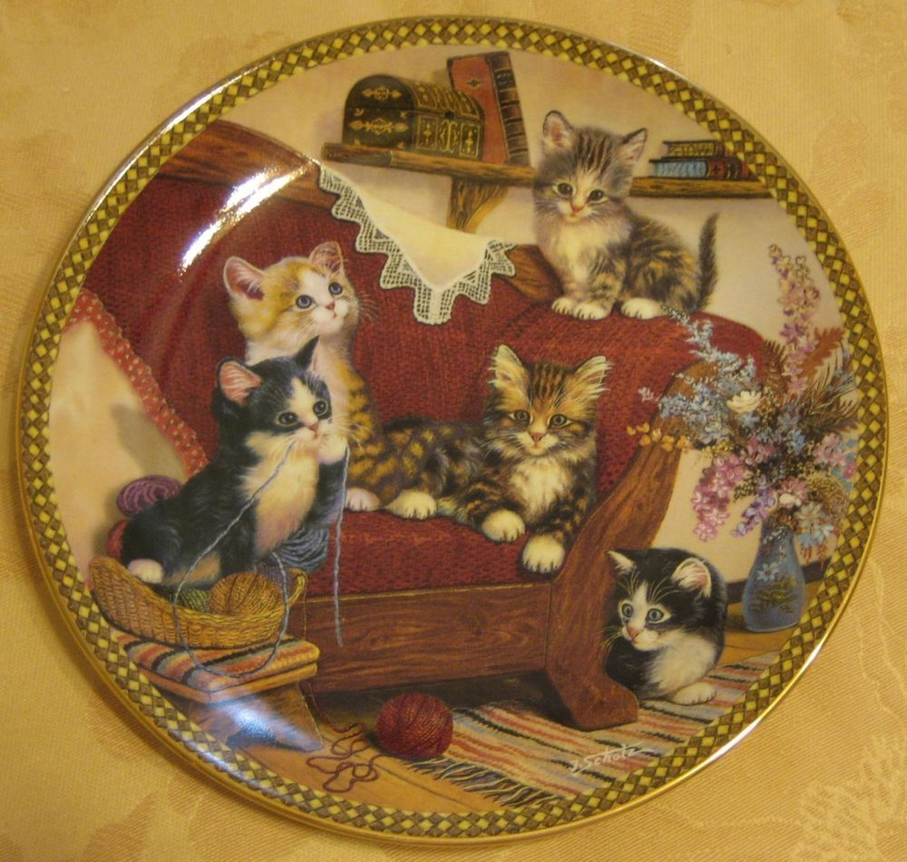 Bradford Exchange collectible decorative porcelain plate Cats Kittens NEW w/COA & Bradford Exchange collectible decorative porcelain plate Cats ...