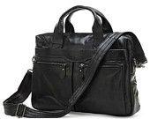 Genuine Leather Men's Briefcase Laptop CrossBody Messenger Bag Handbags