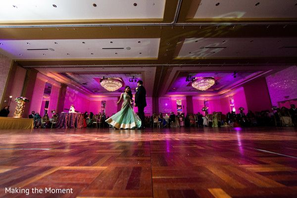 Indian couple first dance at wedding reception http://www.maharaniweddings.com/gallery/photo/92761 @makingthemoment