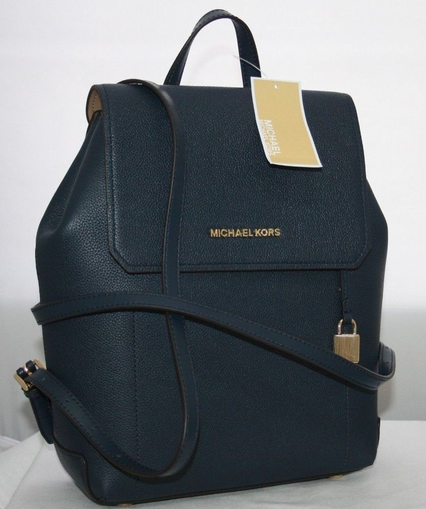4a14b0848b817d NEW MICHAEL KORS HAYES MEDIUM BACKPACK BAG LEATHER NAVY $348!: $0.99 (0  Bids) End Date: Tuesday Dec-11-2018 16:07:25 PST Bid now | Add to…