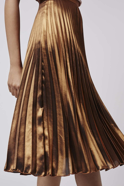 01a346360d Foil Pleated Midi Skirt - Topshop   Style   Pleated midi skirt ...