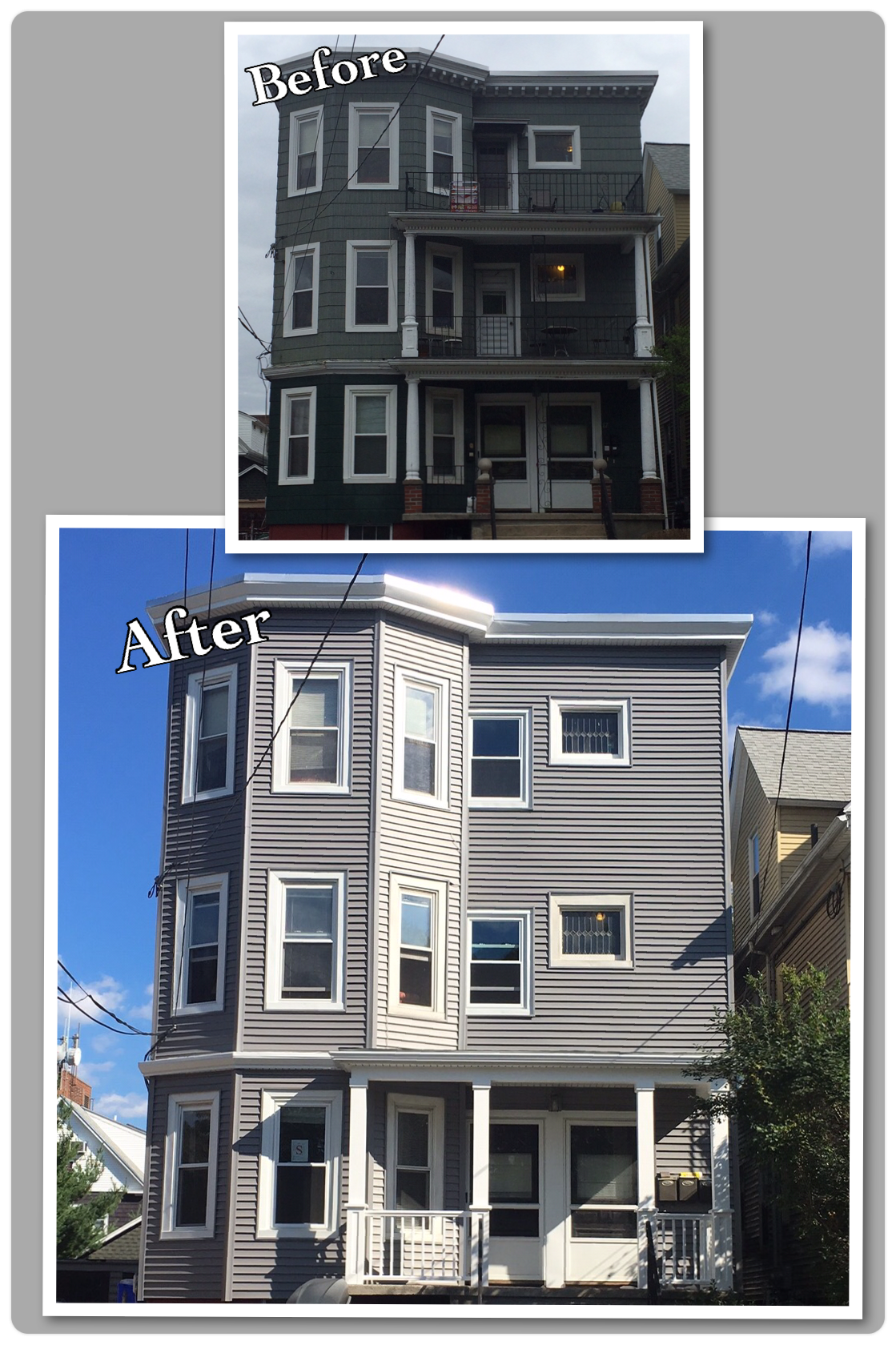 Before After Using Certainteed Monogram Siding In Charcoal Grey Certainteed Vinylsiding Beforeandafter Home Remodeling Contractors Outdoor Design Remodel