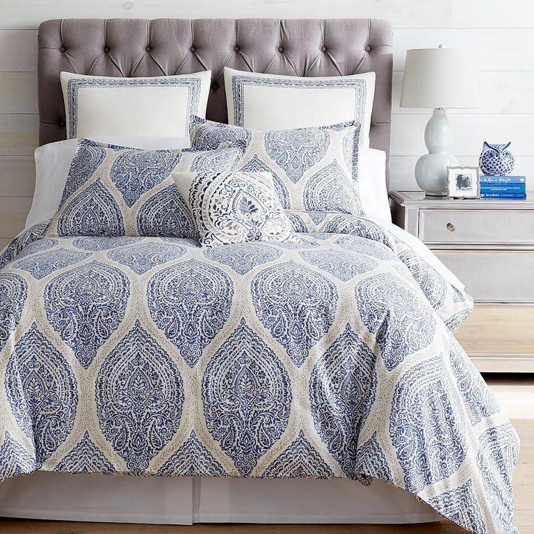 Reese Blue Duvet Cover Sham Bed Linens Luxury Blue Duvet Cover Bed Linen Design