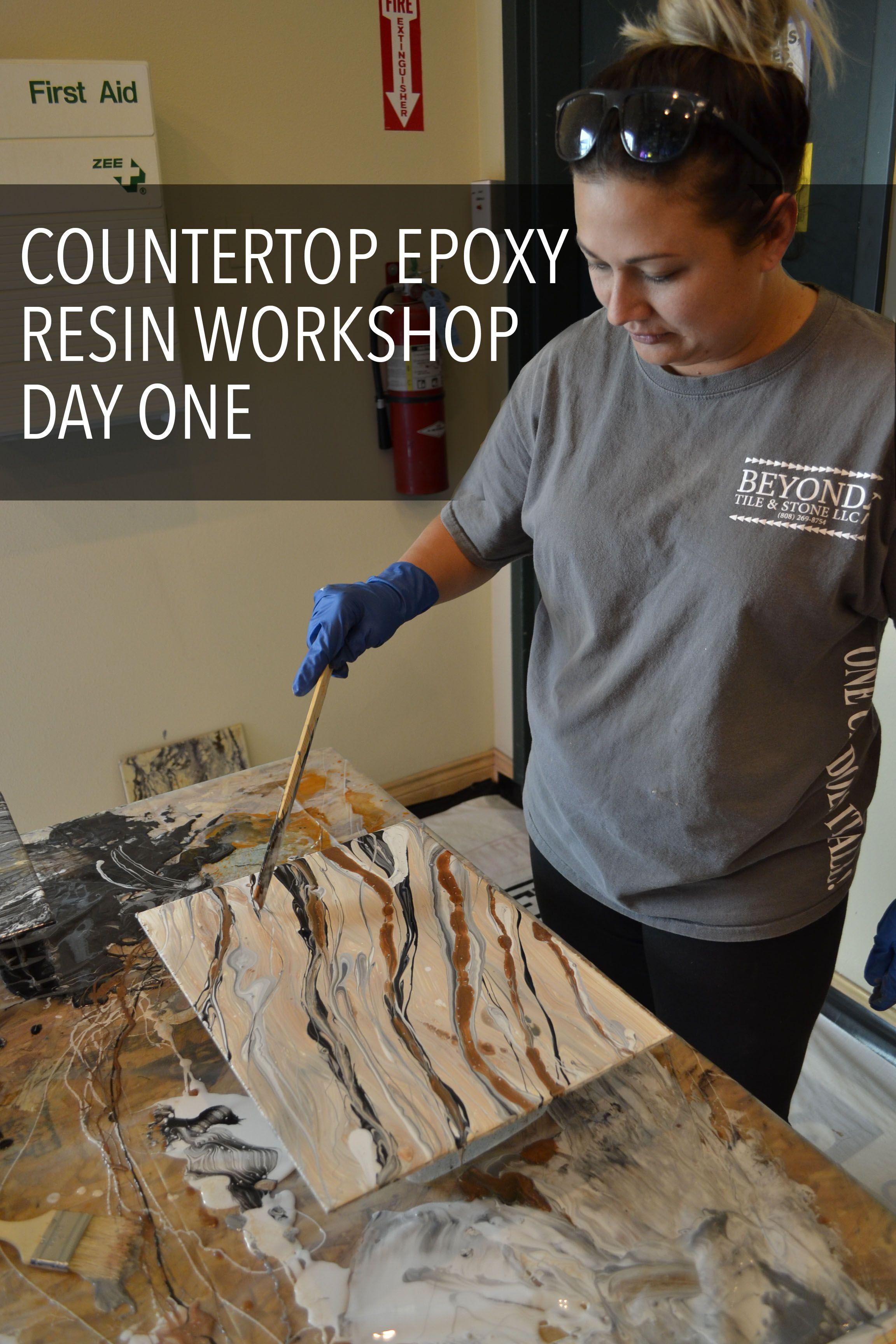 Countertop Epoxy Resin Workshop October 2017 Epoxy Countertop Resin Countertops Epoxy Resin