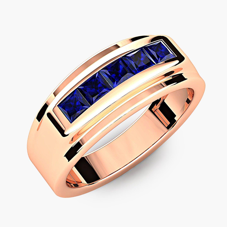 19++ Sapphire wedding bands gold ideas