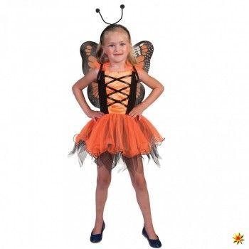 Kostum Schmetterling Orange Kinder Kostum Schmetterling Kostum