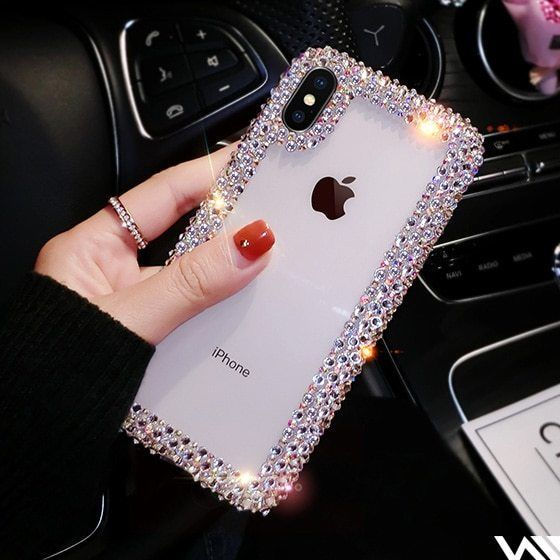 various colors e203a 226a3 Luxury Fashion Rhinestone Crystal TPU Soft Case For Iphone X XR XS ...