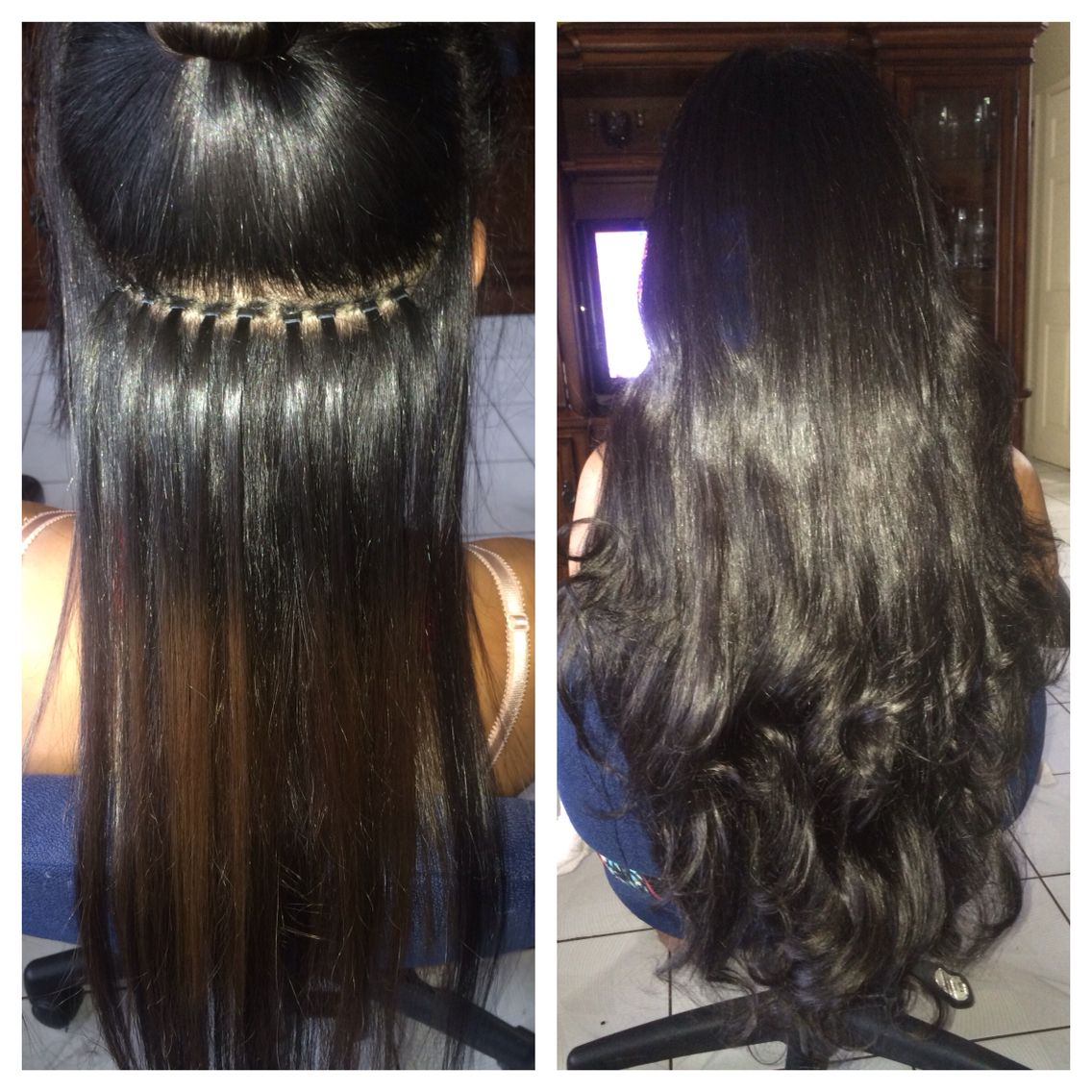 Microbeads Braidless Sew In Technique Mbbs Installed By Yours Truly Gucciwitit To Book App Braidless Sew In Microlink Hair Extensions Sew In Extensions