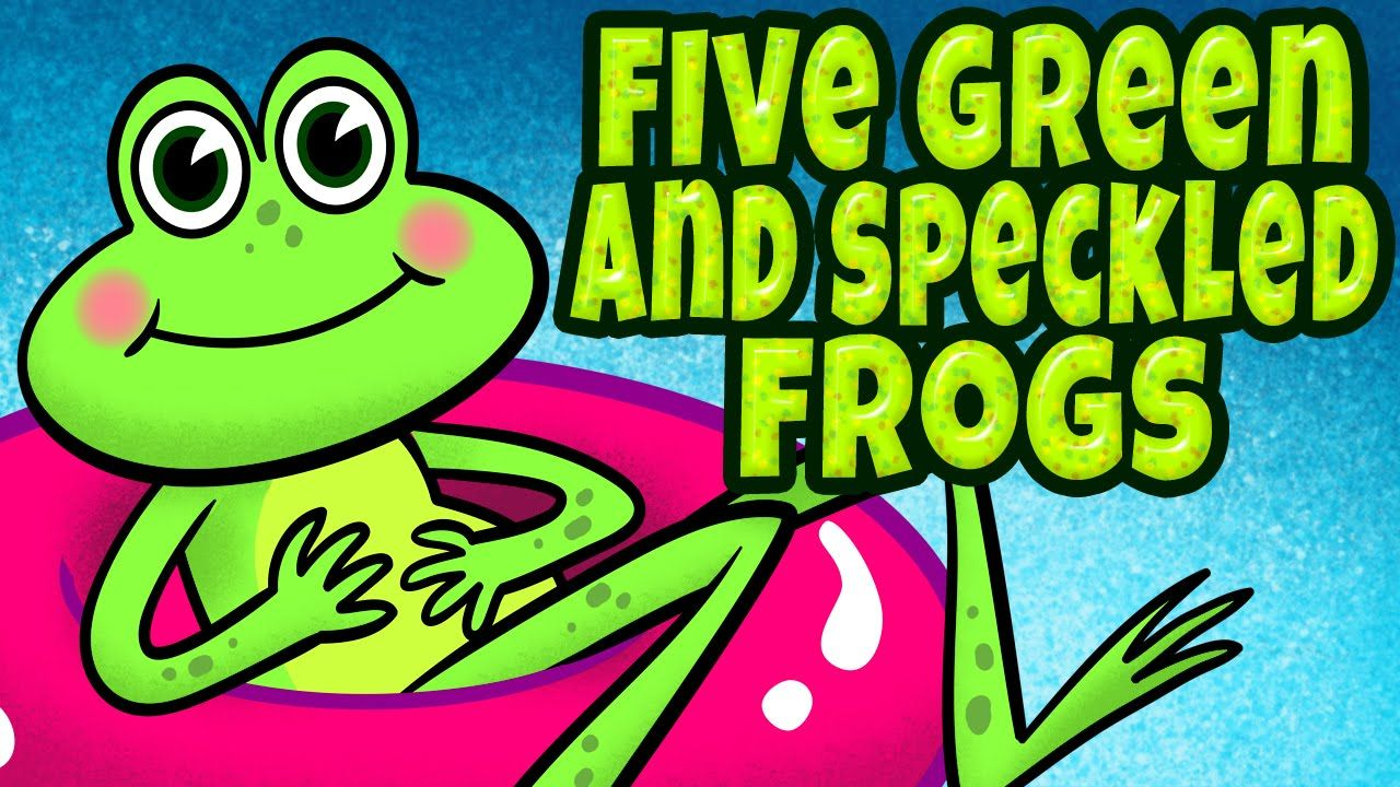 """FREE Animated Music Video: """"Five Green and Speckled Frogs"""" is a ..."""