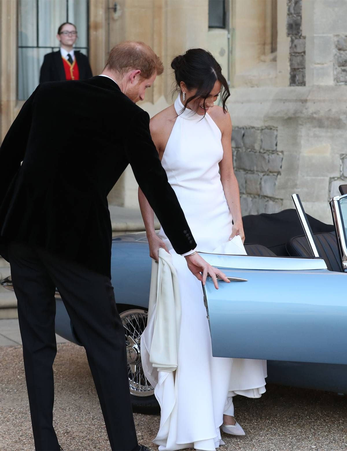 Fashion style Meghans Second Wedding Dress (and Car) Is About As Hollywood As It Gets for woman