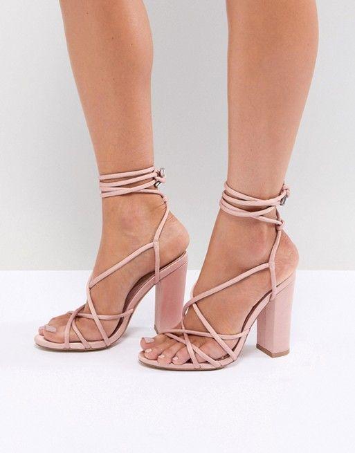 28b4c43a02f Missguided Multi Strap Block Heel Sandals
