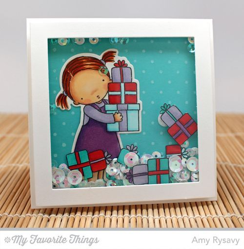 Overflowing Joy stamp set and Die-namics, Swiss Dots Background, Square Frames Die-namics - Amy Rysavy #mftstamps