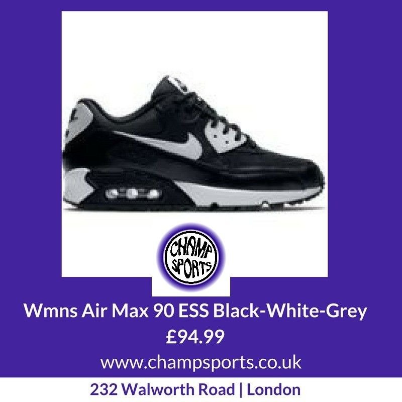 size 40 bbc4e 24c53 ... shop womens nike air max 90 ess black white grey 94.99. available 72af2  a7c99