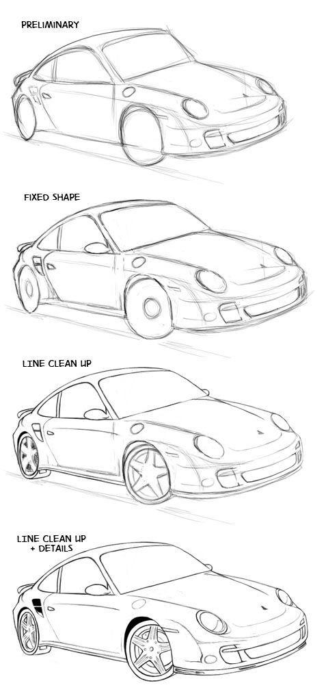 Draw Pattern Voiture Normale Auto Zeichnen Auto Zeichnungen