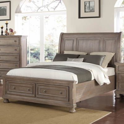 Allegra Pewter Queen Storage Bed Bernie And Phyls