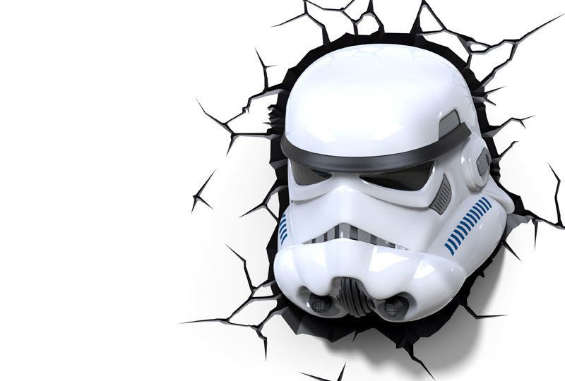 Star Wars Stormtrooper 3d Led Light Star Wars Slaapkamer Wandverlichting Gadgets