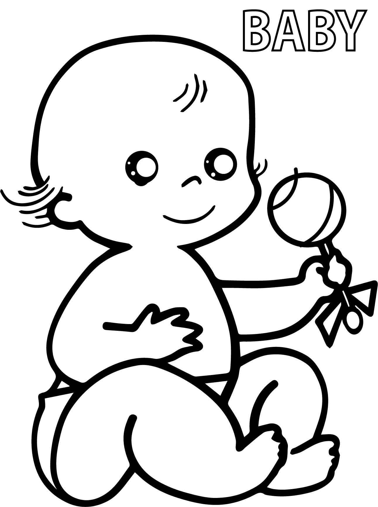 nice Preschool Baby Coloring Pages | Family members | Pinterest
