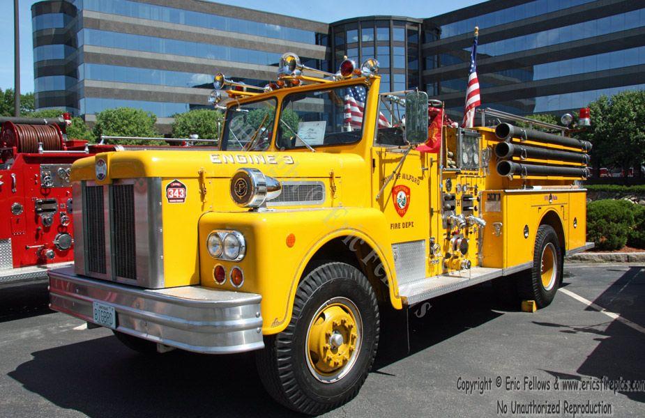 Milford, MA, Former Engine 3, 1976 Maxim pumper. Fire
