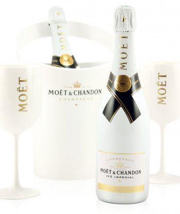 Moet et chandon white ice imperial champagne gift set love champagne cham - Seau a champagne moet et chandon ...