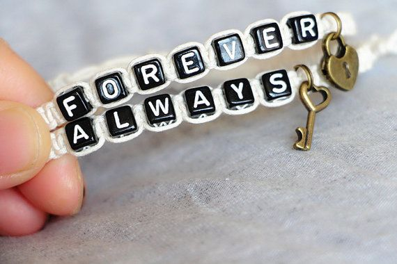 Couples Bracelets Set Always Forever Bracelets Key by Especially2U, $14.99