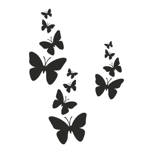 Silueta Mariposas Volando Blanco Y Negro Buscar Con Google