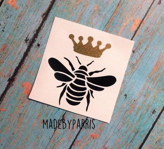 Queen bee vinyl decal bee decal queen decal car decal yeti decal