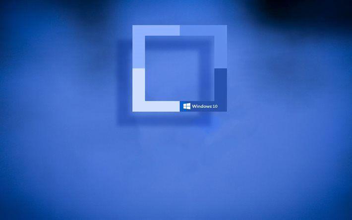 Telecharger Fonds D Ecran Windows 10 Rectangles Fond Bleu Creatif Besthqwallpapers Com Fonds D Ecran Windows 10 Windows 10 Fond Ecran Windows
