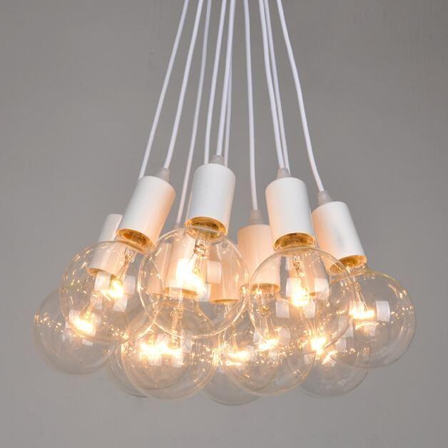 Multiple Bulb Chandelier Lampara Arana Casera Bombillas De Edison Iluminacion Colgante