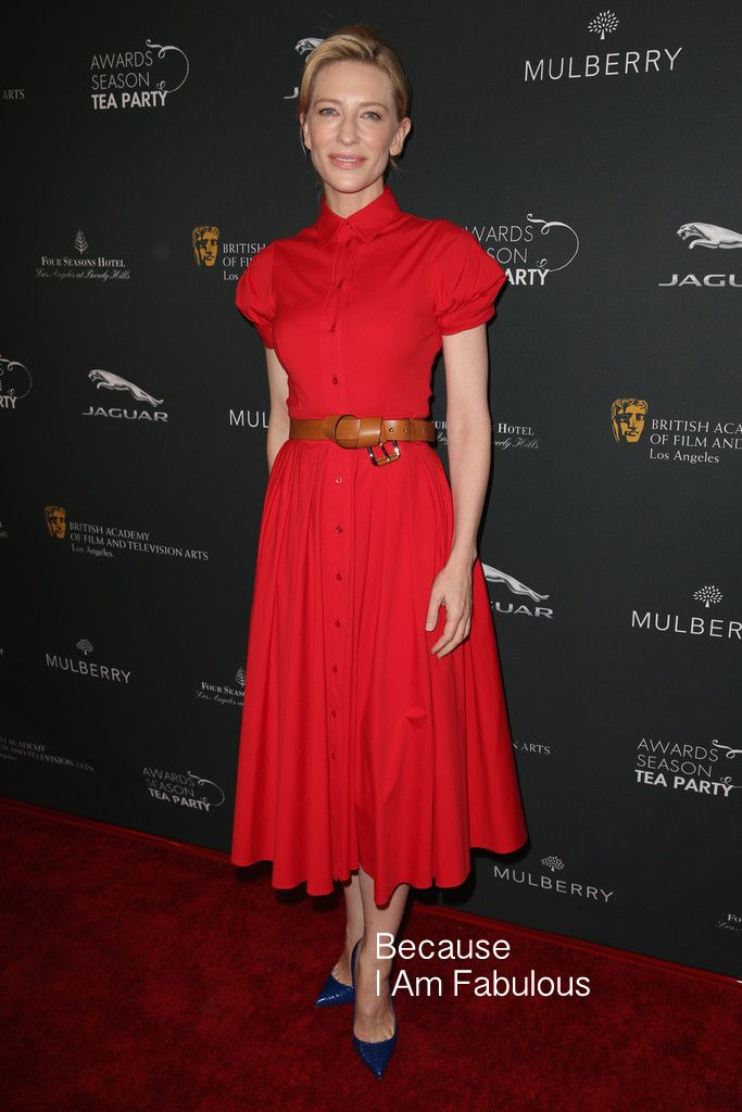 Fabulously Spotted: Cate Blanchett Wearing Michael Kors - BAFTA LA 2014 Awards Season Tea Party  - http://www.becauseiamfabulous.com/2014/01/cate-blanchett-wearing-michael-kors-bafta-la-2014-awards-season-tea-party/