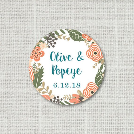 floral wedding stickers envelope